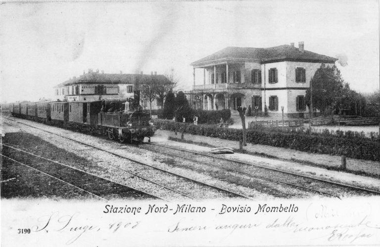 Stazione di Bovisio e albergo Rosa