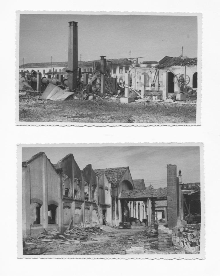 Stabilimento Marangoni bombardato
