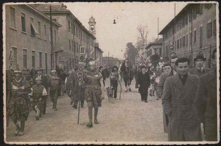 Corte di san Martino nel 1945