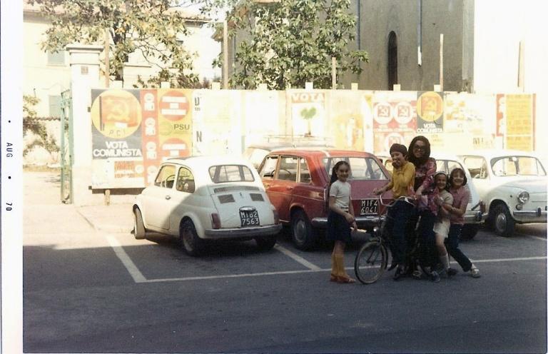 Piazza san Martino prima delle elezioni