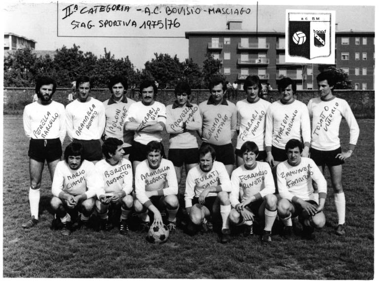Foto di gruppo AC Bovisio stagione 1975-76