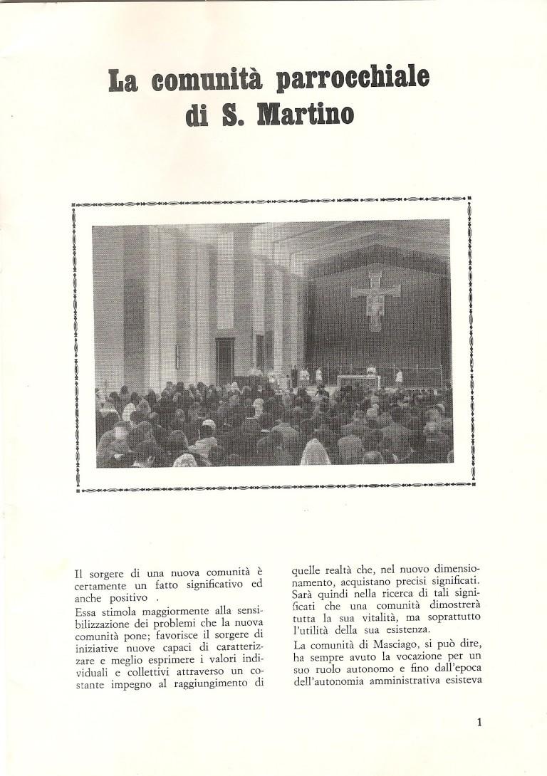 Interno della chiesa di san Martino
